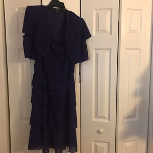 Purple 4 layer dress